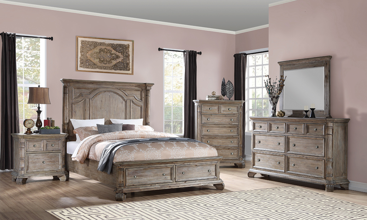 Picture of Tilly Taupe Storage Bedroom Sets