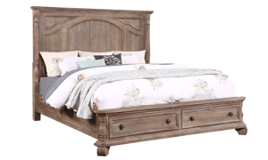 Tilly Taupe Storage Bedroom Sets