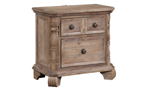 Tilly Taupe 2-Drawer Nightstand