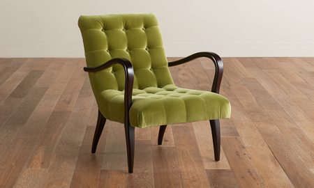 Jessica Jacobs Velvet Bali Tufted Open Arm Chair