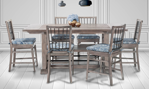 East Hampton Grey 7-Piece Counter Height Dining Set