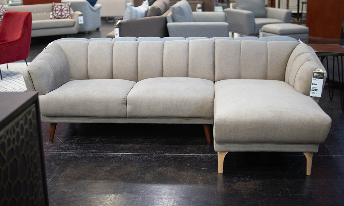 Blake Grey Chaise Sectional