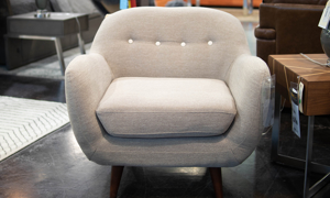 Gabby Tan Button-Tufted Accent Chair