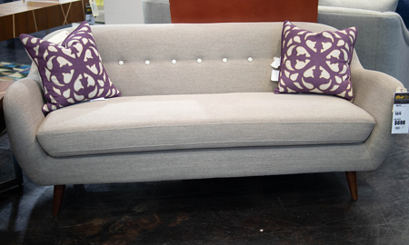 Gabby Tan Button-Tufted Sofa