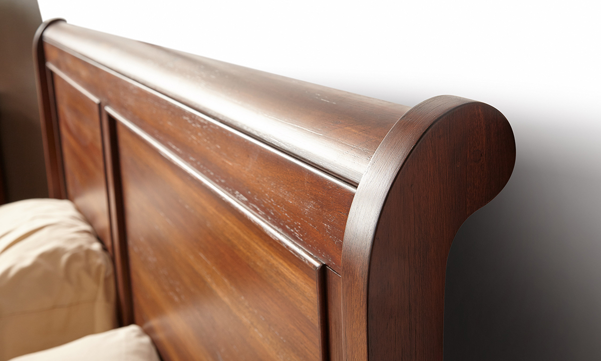 Louis Philippe French Classic Mahogany Sleigh Beds The Dump Luxe Furniture Outlet