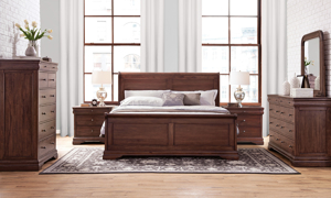 Louis Philippe French Classic Mahogany Sleigh Beds