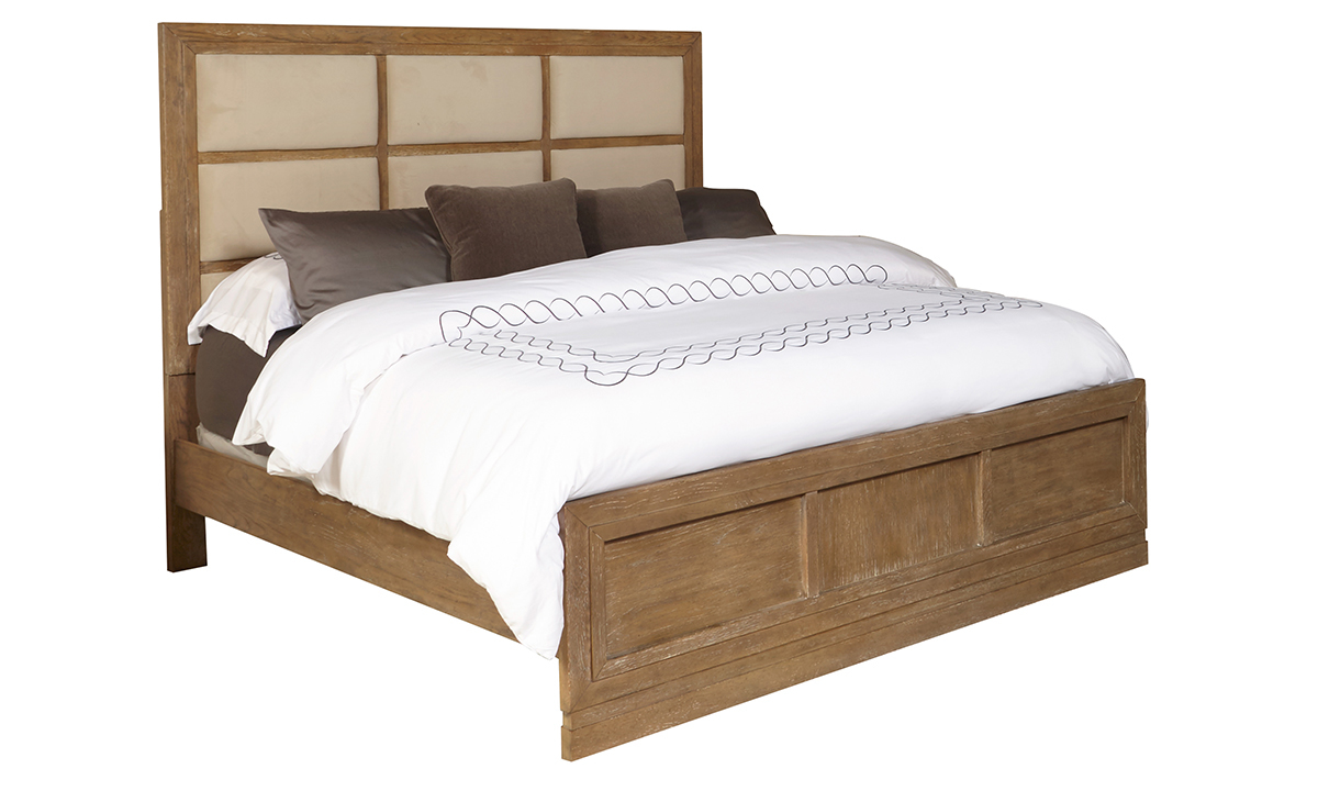 Clemente Pine Upholstered Panel Beds