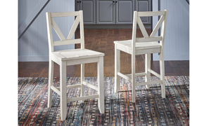 A-America Aberdeen White 5-Piece Large Farmhouse Dining Set