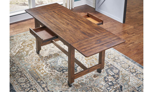 A-America Aberdeen Brown Large Counter Height Dining Table