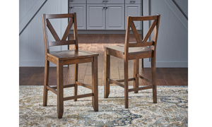 A-America Aberdeen Brown Counter Height Dining Stool