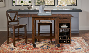 A-America Aberdeen Brown Modular Wine Rack Unit