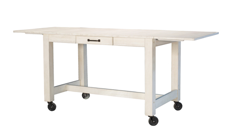 A-America Aberdeen White Large Counter Height Dining Table