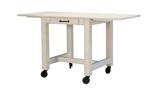 A-America Aberdeen White Small Counter Height Dining Table