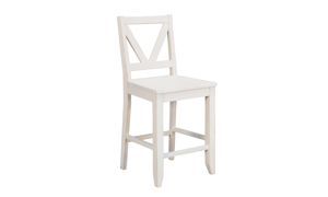 A-America Aberdeen White Counter Height Dining Stool