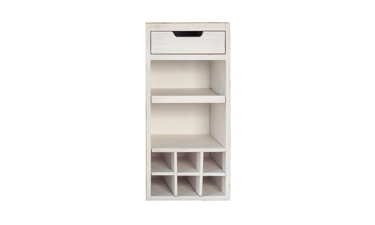 Picture of A-America Aberdeen White Modular Wine Rack Unit