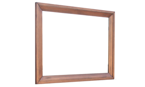 Rotta Denver Live Edge Solid Pine Mirror