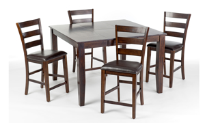 Kona Raisin Solid Mango Wood Counter Height Dining Chair