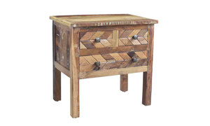 Henna Handmade Solid Wood Nightstand