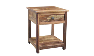 Nepal Handcrafted Solid Wood End Table