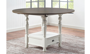 Joanna Farmhouse Round Counter Height Dining Table