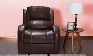 Transitional Manual Glider Recliner Brown