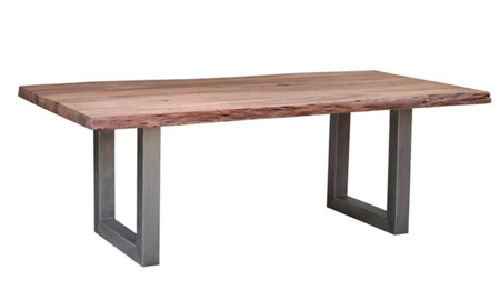 Madison Live Edge Acacia Wood 104-inch Dining Table