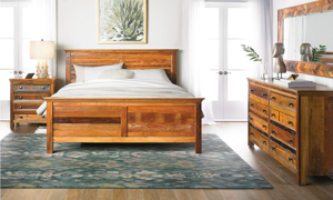 Mumbai Handcrafted Solid Wood Panel Beds
