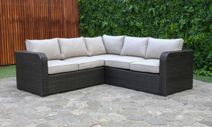 Creative Living Brown Outdoor 3-Piece Sectional