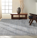 Picture of Calvin Klein Balian CK54 Blue Area Rugs