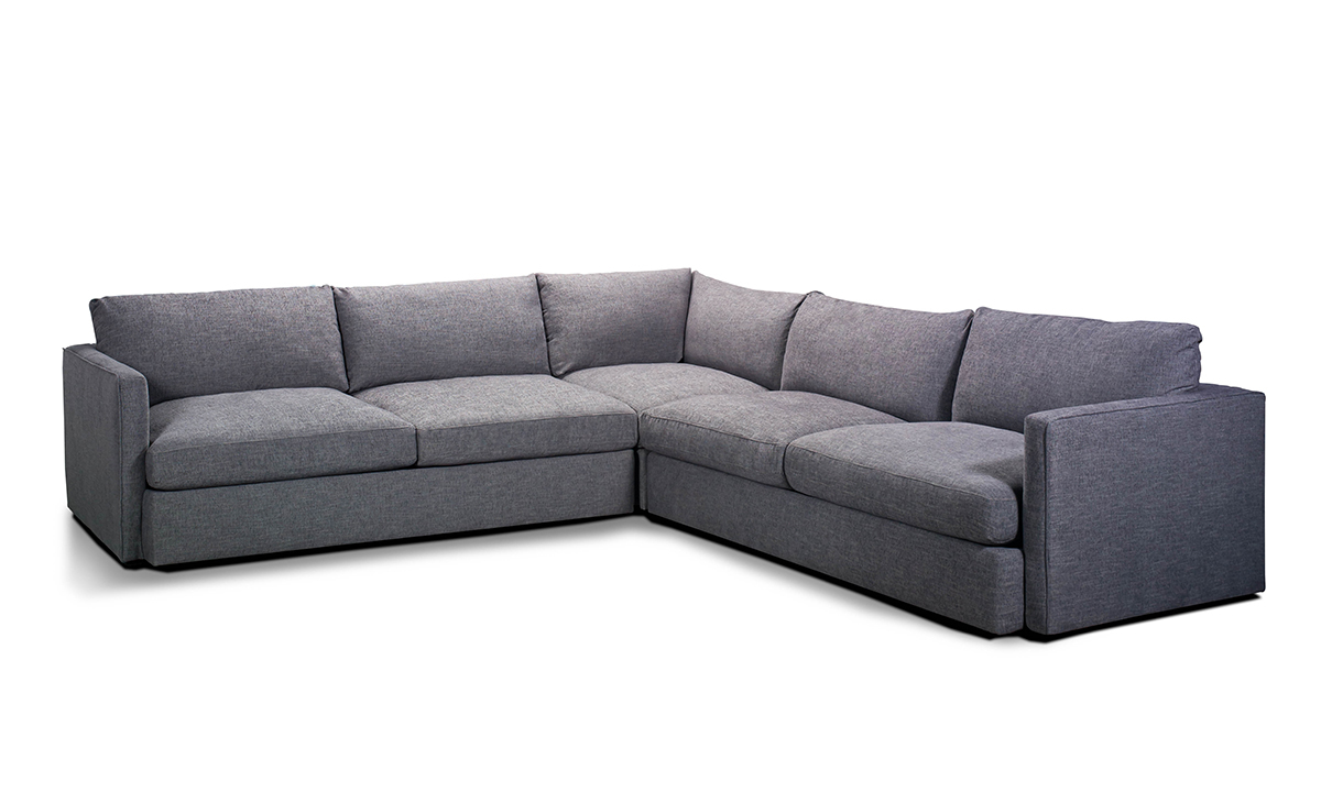Lincoln Park Charcoal 3-Piece Corner Sectional