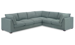 Carolina Custom Holloway 4-Piece Sectional Sea Blue
