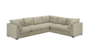 Carolina Custom Holloway 4-Piece Sectional Flax