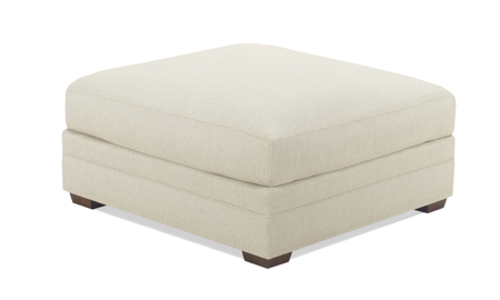 Carolina Custom Holloway Ottoman Linen