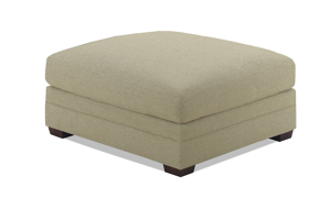 Carolina Custom Holloway Ottoman Flax