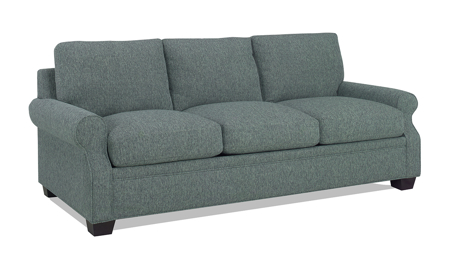 Carolina Custom Larkspur Sofa Sea Blue