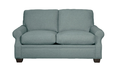 Carolina Custom Larkspur Loveseat Sea Blue