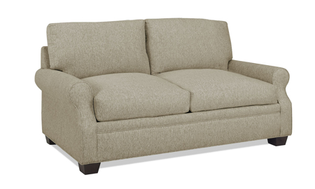 Carolina Custom Larkspur Loveseat Warm Grey