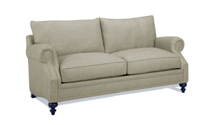 Carolina Custom Sherwood Loveseat Warm Grey