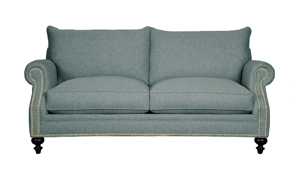 Carolina Custom Sherwood Loveseat Sea Blue