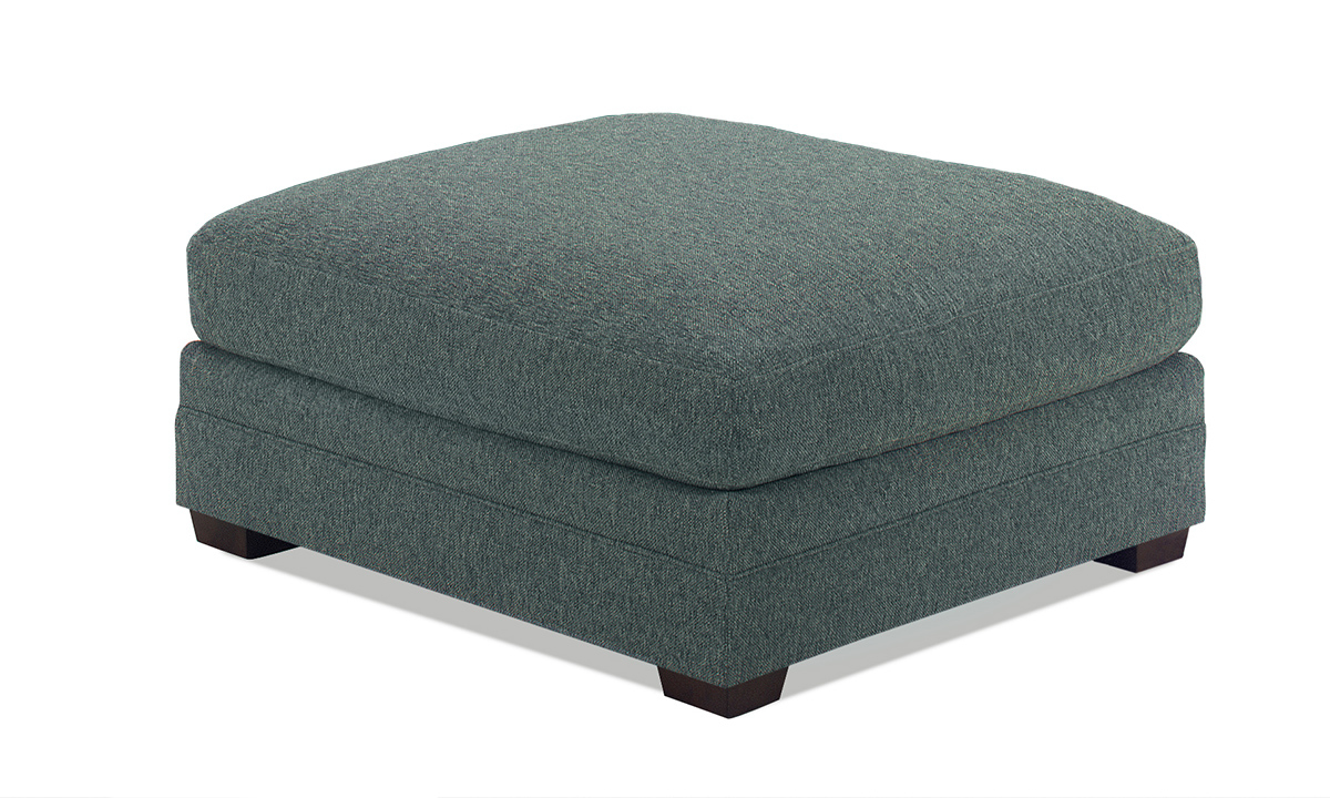 Carolina Custom Holloway Ottoman Sea Blue