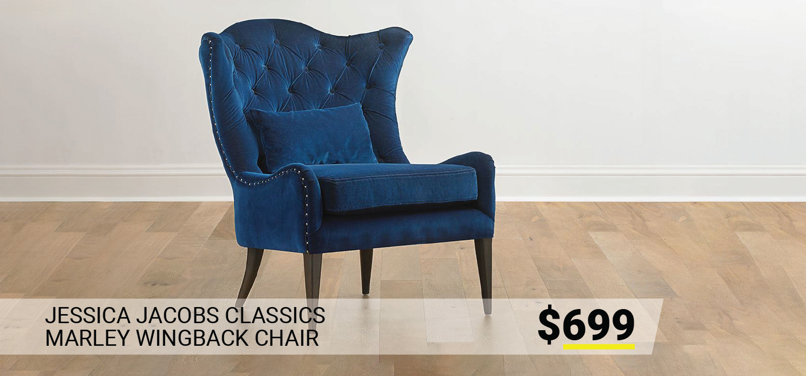 Jessica Jacobs Classics Marley Wingback Chair $699