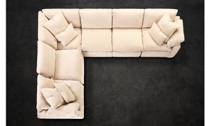 Jessica Jacobs Luxe Sand All In Slipcovered Sectional