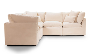Jessica Jacobs Luxe Sand Corner It Slipcovered Sectional