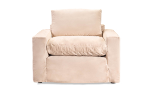 Jessica Jacobs Luxe Sand Slipcovered Arm Chair