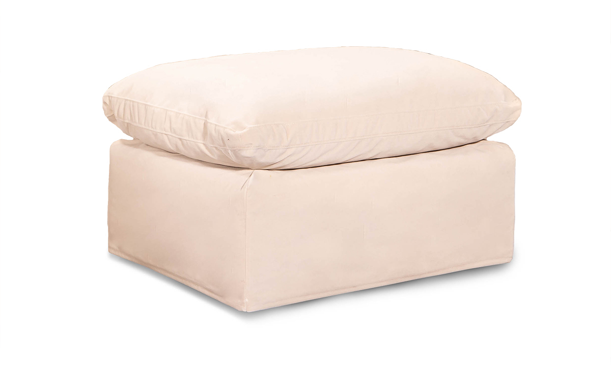 Picture of Jessica Jacobs Luxe Sand Slipcovered Ottoman