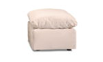 Jessica Jacobs Luxe Sand Slipcovered Ottoman