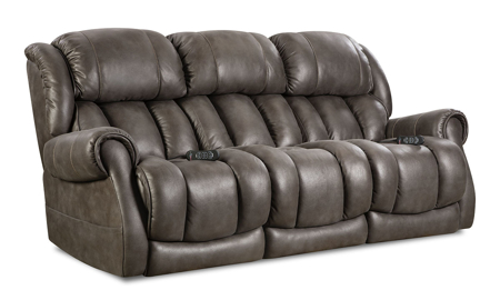 Slate Custom Comfort Power Reclining Sofa