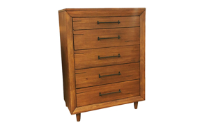 Denver Brown 5-Drawer Chest