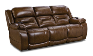 Saddle Brown Leather Power Reclining 3-Piece Living Room Set