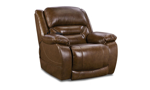 Saddle Brown Leather Power Recliner
